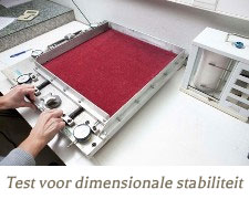 laboratorium test dimensionele stabiliteit